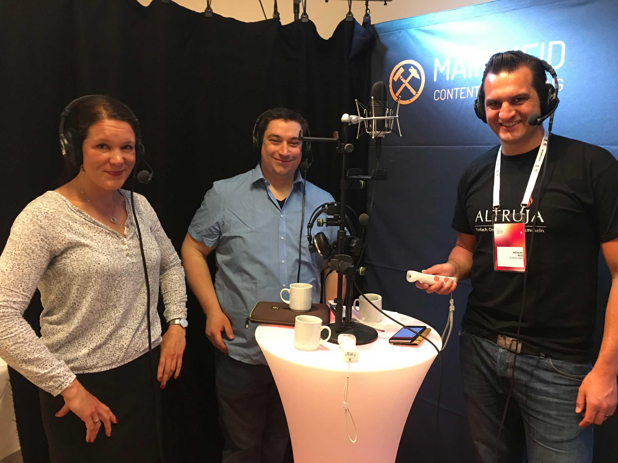 Julia-Marie Meisenburg, Lucas Scheel und Nico Reis starten in den Fundraising Kongress